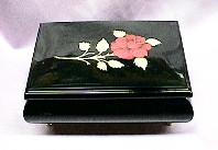 Black Rose Jewelry Music Box #15R