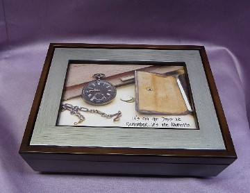 Woodgrain with Silver Inlay Photo Frame Music Box #16843- Musical Song List with the ORIGINAL ARTISTS Singing Their Own Songs!