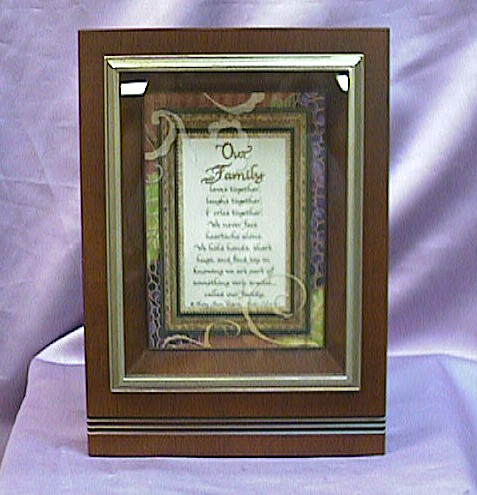 Rosewood Musical  Picture  Frame  #V45 - Insert Your Own Picture