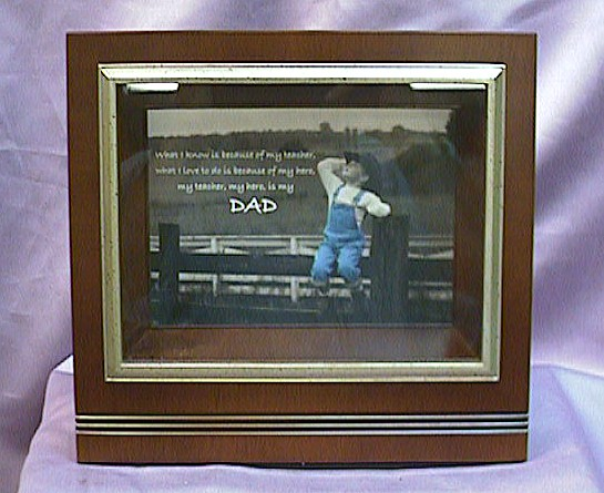 Rosewood Musical  Picture  Frame  #S44 - Insert Your Own Picture