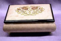 Flowers Inlay Jewelry Music Box #22CF