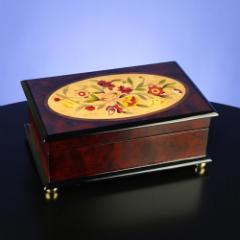 Floral Wooden Musical Jewelry Box  #31239