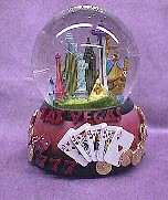 Las Vegas  Musical  Waterglobe   #36179