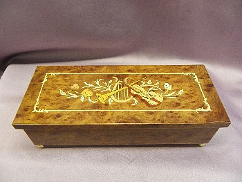 Exquiste Musical Inlay Jewelry Box  SAVE $50.00  #SMB-46V