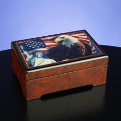 America The Beautiful Musical Jewelry Box  #49494