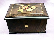 Exquite Floral Inlaid 36 Note  Music Box #559F