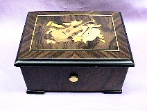 Exquite Violin Inlaid 36 Note  Music Box #559M