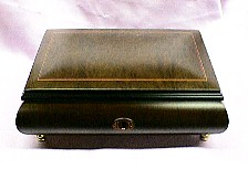 Rich Burled Elm Jewelry Music Box #76CO
