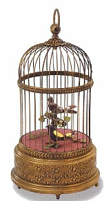 Singing Birds In Cage - Antique Style -  SAVE $300.00  #007005-A2