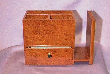 Burled Elm Desk Top Bookend Box  #69474   --- Reg.$95.00  Now $75.00