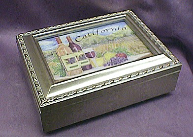 California Champagne Musical  Box   #cal2044   -----  Reg. $85.00 Now $65.00