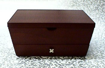 Personalized Mahogany Jewelry Box with Drawer #69800