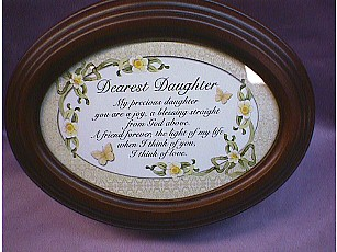 Daughter Rosewood Musical Jewelry Oval Box  #daughter