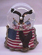Musical American Eagle Waterglobe #14080   - SOLD OUT