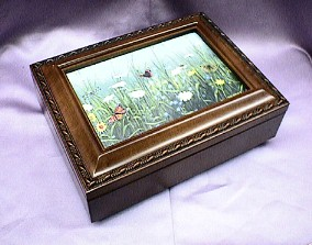 Field of Flowers  Rosewood Music Box   # FB2044  --- Reg. $85.00 Now $65.00