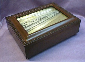 Footprints in the Sand Musical Jewelry Box  #footprints