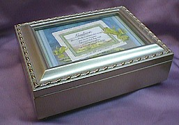 Godson  Silver Photo Frame Musical Jewelry Box  #godson