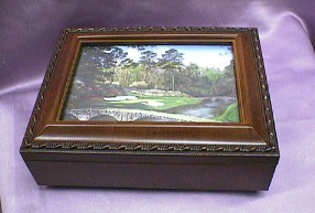 Golf  Course  Rosewood Music Box  # golf  --- Reg. $85.00 Now $65.00