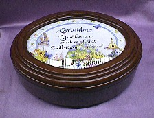 Grandma  Rosewood Oval Music Box  # grandma   -- Special Price  Reg. $85.00  Now $65.00