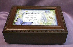 Grandmother Musical  Rosewood Box  #gmother