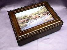 Wild Horses  Rosewood Music Box   # H2044   --- Reg. $85.00 Now $65.00