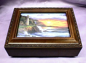 Lighthouse Sunset Music Box  #	mb127