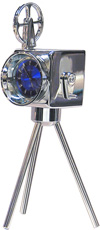 Miniature  Movie Reel Camara Clock  With Blue Face #mccamb  