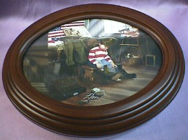 Military Boy Musical Oval Rosewood Box  #milboy