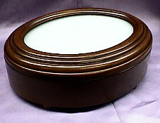 Oval Shaped Rosewood Picture Frame Music Box  #2066