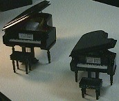 Wooden  Baby  Grand  Piano with Bench and Gift Box Black#MM705 -