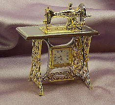 Elite Sewing Machine Miniature Clock -  Limited Edition - This is No Longer Been Produced - Only 2 Available and there GONE for good!