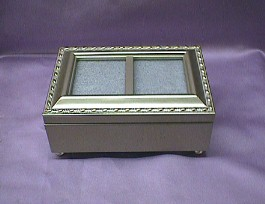 Champagne Double Frame Music Box #CBOX