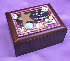 Teacher Rosewood Musical Jewelry Box    # teacher- sold out